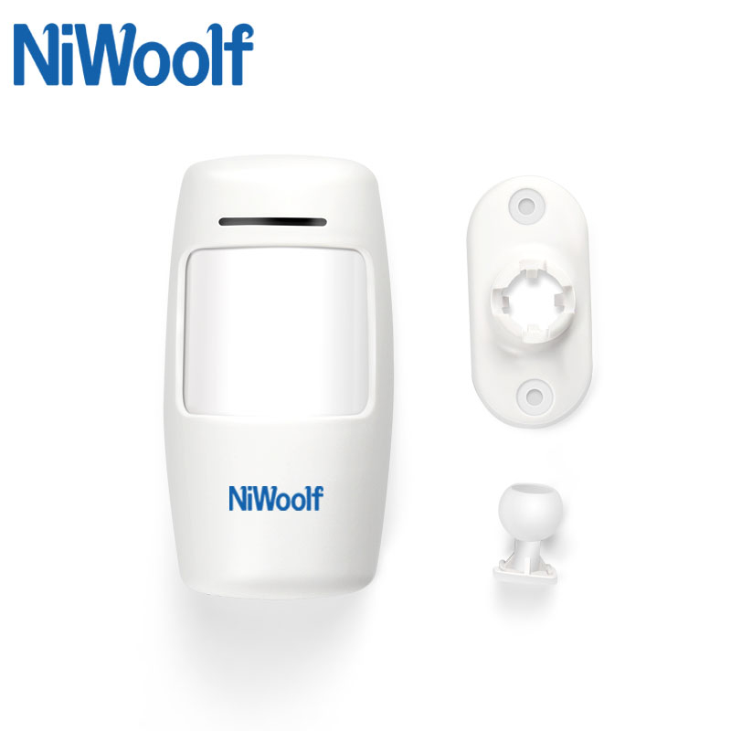 NiWoolf 433MHz Wireless Infrared Detector Wireless Passive Motion Detector Alarm For Home Burglar Alarm System, Use 1.5V Battery