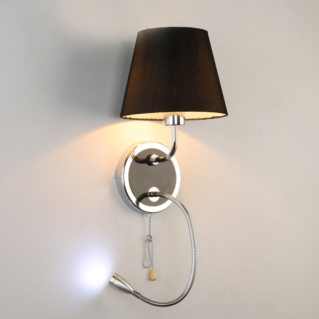 Led Indoor Wall Lamps : Aliexpress.com : Buy decorative wall lamp Sconce led indoor wall light fabric shade bedroom ...