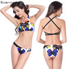 Maxmessy Abdomen Wraps Up Design Tank Top Swimwear Bikini Set Removable Push Up Pad Women Beach Swimming Spa Bikini Thongs