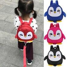 New Hot Cartoon Backpack Boy Girl Penguin Shape Package Kindergarten School Bag Cute Anti-lost 1-3 Years Baby