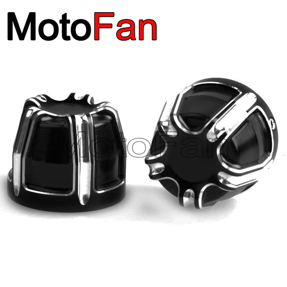 Custom Motorcycle Front Axle Nut Covers Caps Kit for Harley Davidson Touring Softail Dyna Street Bob CVO Fat Bob Electra Glide chrome custom motorcycle skeleton mirrors for harley davidson softail heritage classic