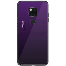 For Huawei Mate20/Mate20 Pro/Mate20 Lite/P30/ P30 Lite/P30 Pro Case Aurora Gradient Tempered Glass Fundas Shockproof Cover