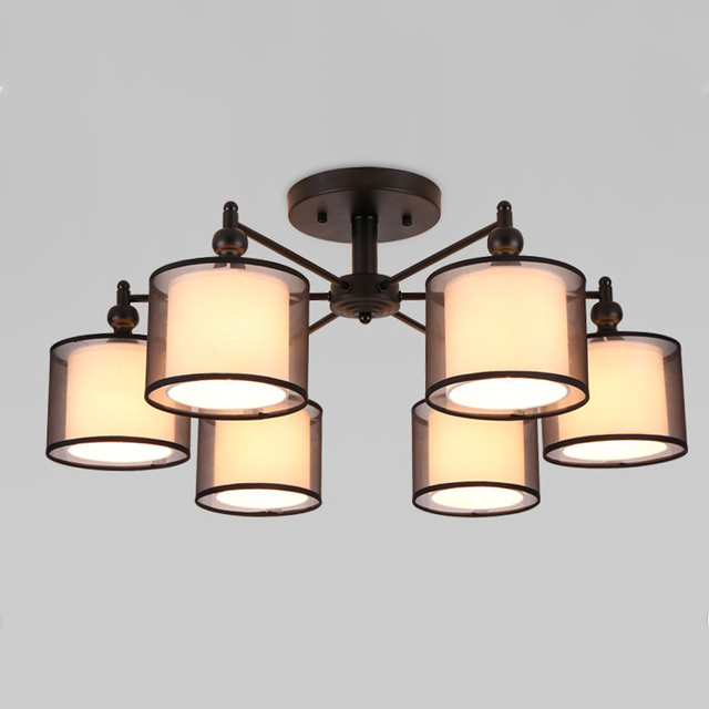 Iluminacion ceiling light wrought iron luminaria e27 bulb home lighting fixtures ceiling lights vintage lamps for