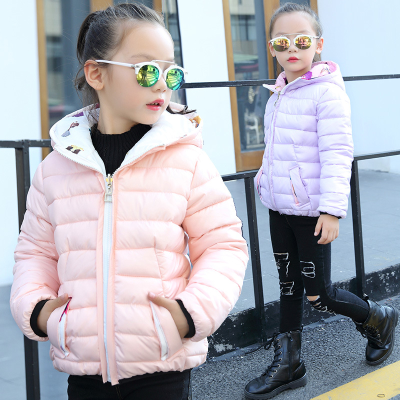 цены 2018 new spring autumn Girls Kids boys cotton hooded jacket coat comfortable cute baby Clothes Children reversed clothing
