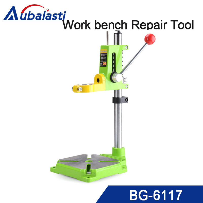 Drill Press Stand for Drill Workbench Repair Tool Clamp for Drilling Collet Table 35&43mm 0-90 degrees стоимость
