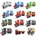 24 unids/lote curvr aprendizaje de metal modelos de trenes thomas & friends de metal niños diy cars, tomy diecast escala diy modelo de juguete