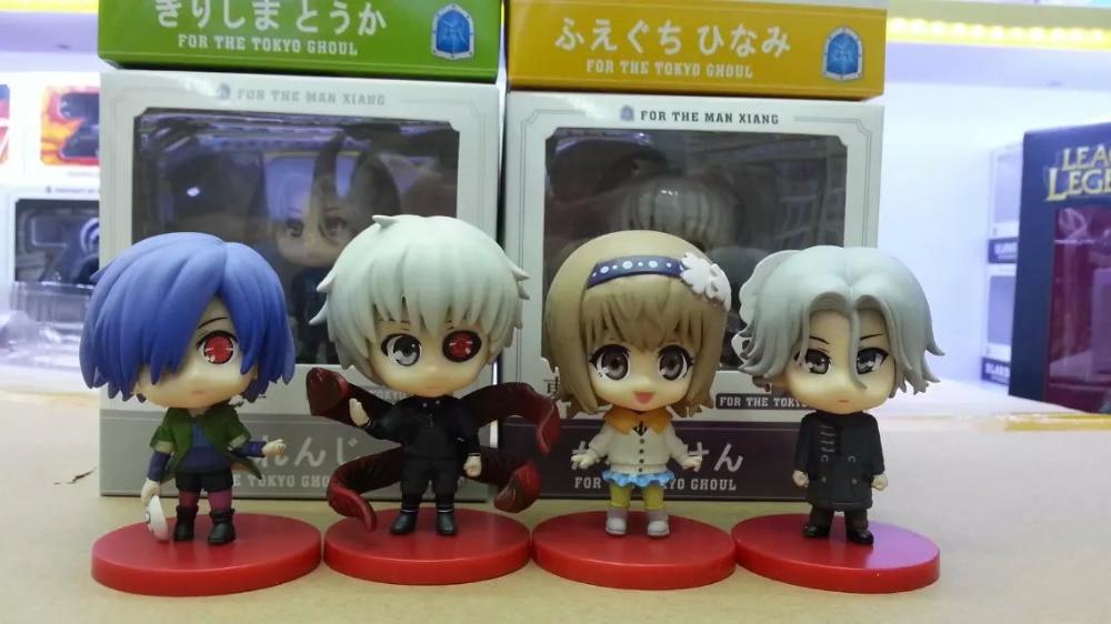 Anime Tokyo Ghoul 4PCS/SET Kaneki Ken Touka Kirishima Q Version PVC Action Figures Collectible Brinquedos Model Toys Gift цена 2016