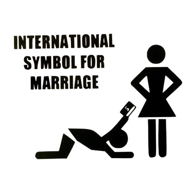 14cm105cm Car Styling International Symbol For Marriage Funny Cute
