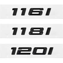 3d metal preto adesivo 116i 118i 120i 130i bota traseira do carro emblemas número carta distintivo para bmw série 1 e81 e82 e87 e88 f20 f21