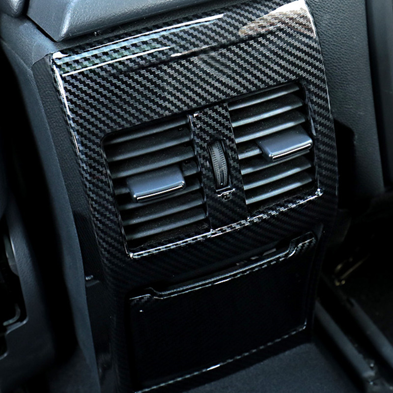 ABS Carbon Fiber Style Rear Air Outlet Cover Trim For <font><b>Mercedes</b></font> Benz A <font><b>W176</b></font> GLA X156 CLA C117 B W246 Class <font><b>Interior</b></font> Accessories image