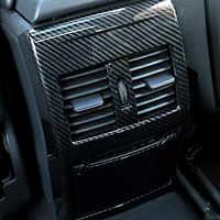 Cubierta embellecedora de salida de aire trasera de estilo de fibra de carbono ABS para Mercedes Benz A W176 GLA X156 CLA C117 B W246 clase accesorios interiores