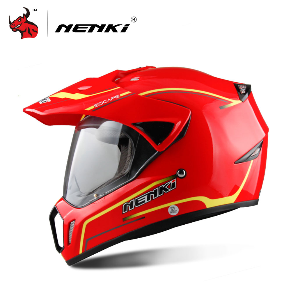 NENKI Motorcycle Helmet Motorcycle Full Face Helmet Men Motocross Helmet Motorbike Touring Racing Casco Moto Capacetes DOT