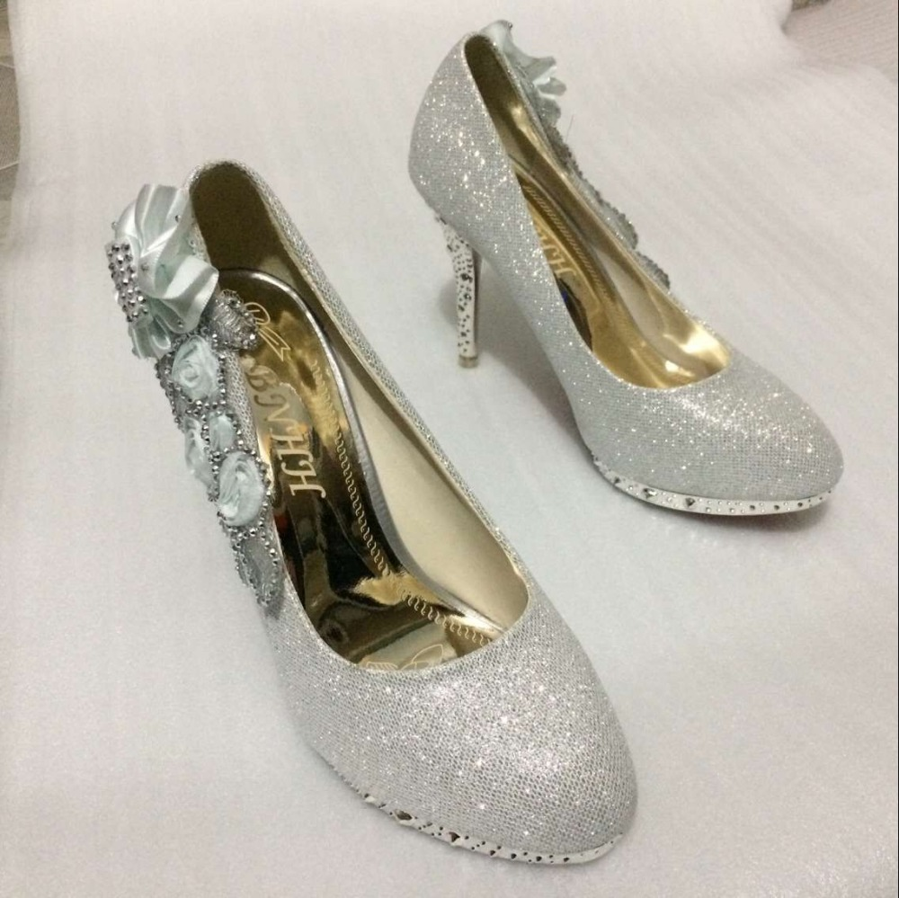 Online Get Cheap Silver Heels with Flowers -Aliexpress.com ...