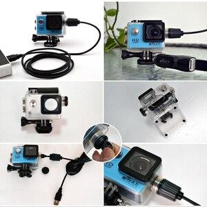 Image 1 - Akcesoria do aparatu wodoodporna obudowa ładowarka shell kabel USB do SJCAM SJ4000 powietrza Sj9000 C30 C30R EKEN H9R dla motocykli Clownfish