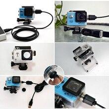 カメラアクセサリー防水ケース充電器シェルusbケーブルsjcam SJ4000空気Sj9000 C30 C30R eken H9Rバイク用カクレクマノミ