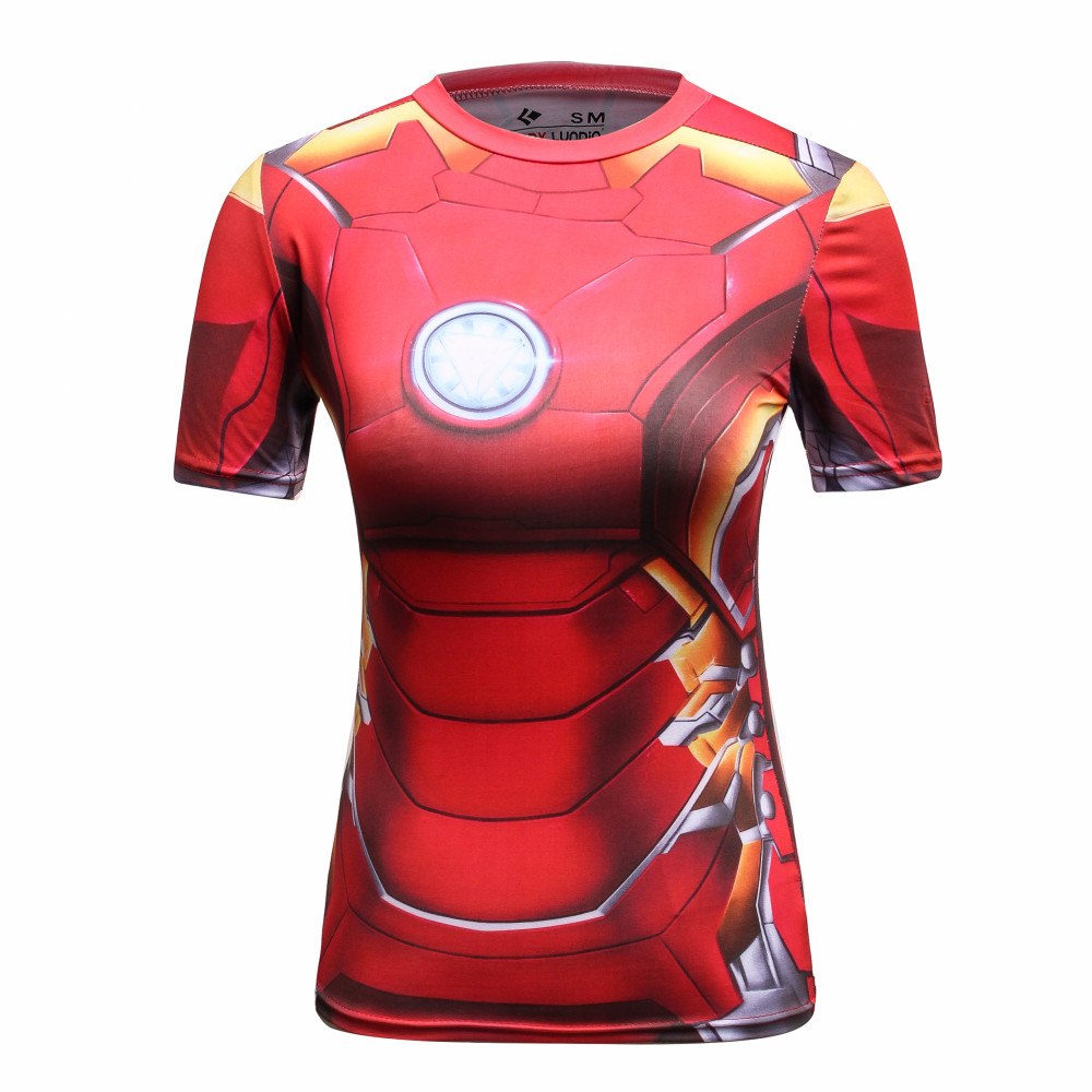 Cody Lundin Compression T Shirt Women Superhero Captain America/Spiderman/Batman Tops Female Clothing Bodybuilding Tees