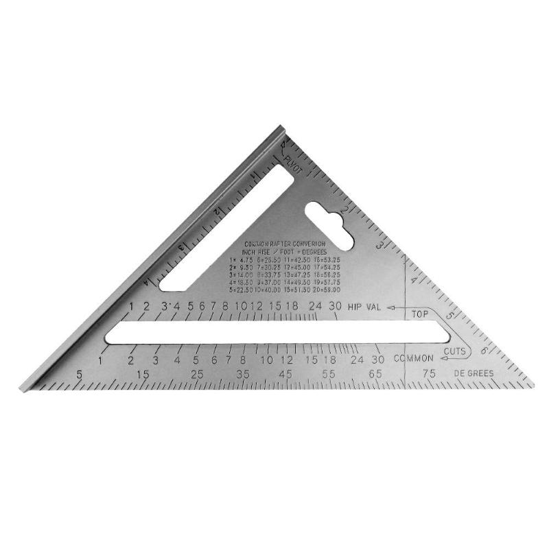 7inch Aluminum Alloy Speed Square Roofing Triangle Angle Protractor Carpenter's Measuring Layout Tool Measuring Ruler hot sale
