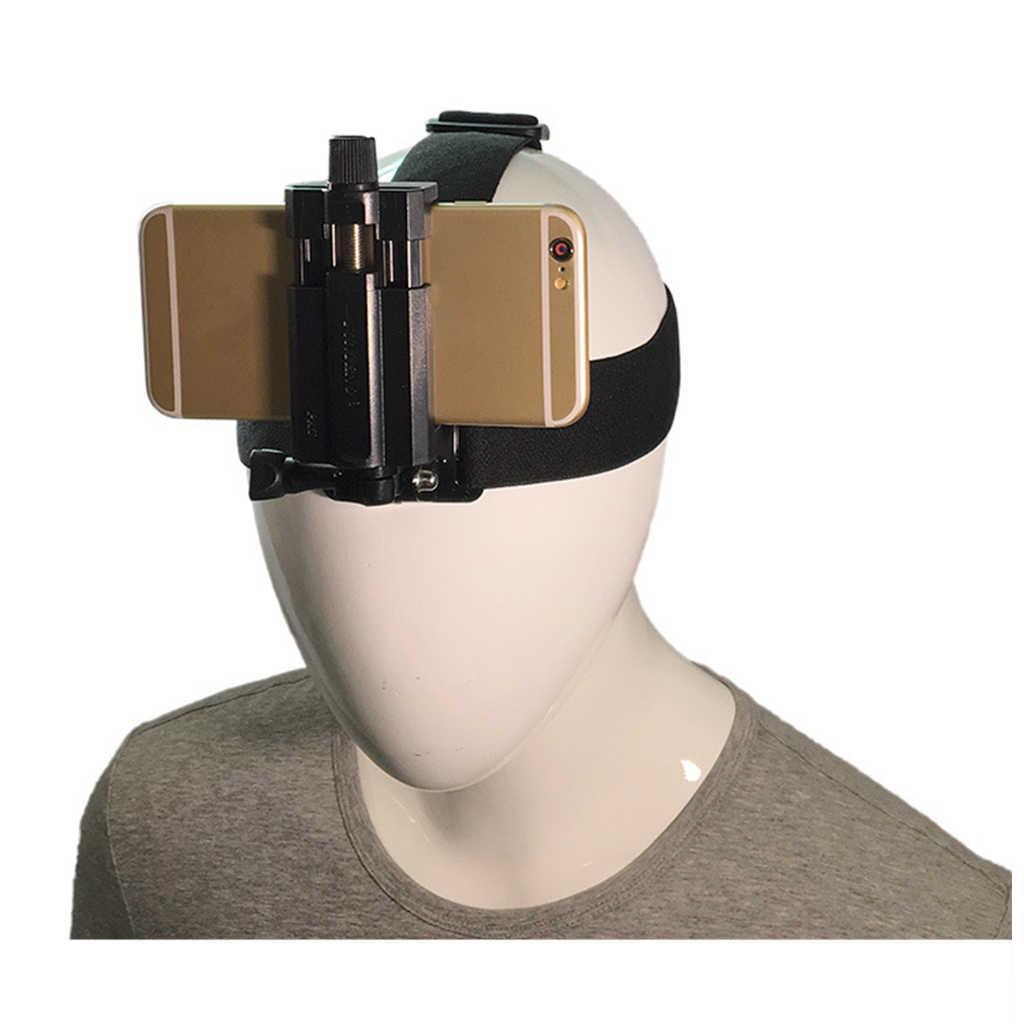 Correia do gopro do montagem da cabeça do telefone para iphone, samsung galaxy, & note todos os smartphones adaptador universal conectar a alça peitoral clip