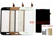 For Samsung Grand Neo Plus i9060i/DS Touch Screen Digitizer Sensor + LCD Display Screen + Adhesive + Kits for fly iq434 lcd display screen not touch screen digitizer sensor 3m sticker free tracking