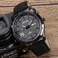 Ao ar livre Militar Do Exército Preto Negócio Relógio de Pulso de Quartzo Homens Analógicos Simples Clássico Pulseira de Couro de Luxo Strap Presente