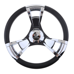 Image 1 - 350mm Boat Steering Wheel Polished 3 Spoke boats with 3/4 Inch Shaft Boat Accessories Marine for Vessels Yacht