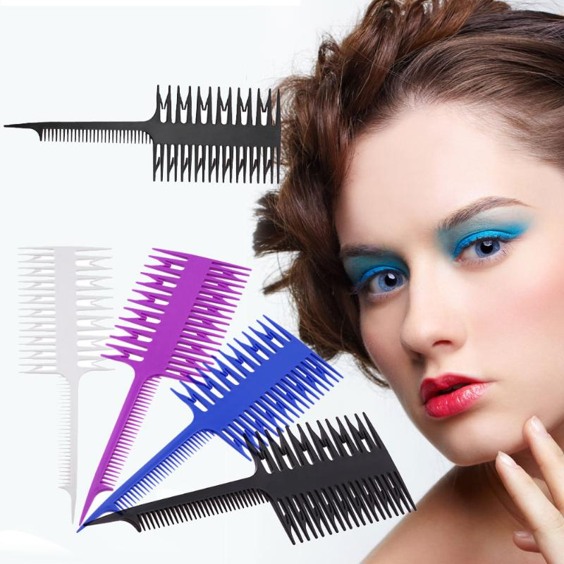 Professional Fish Bone Shape Comb Brushes Magic Unique Salon Hair Dyeing Sectioning Combs Women Hair Dyeing Styling Comb Tools Beauty & Health