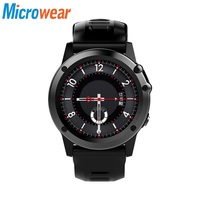 Microwear H1 Smart Watch men waterproof Pedometer Smartwatch GPS 3G WIFI Bluetooth Heart Rate smart watch earphone Altimeter