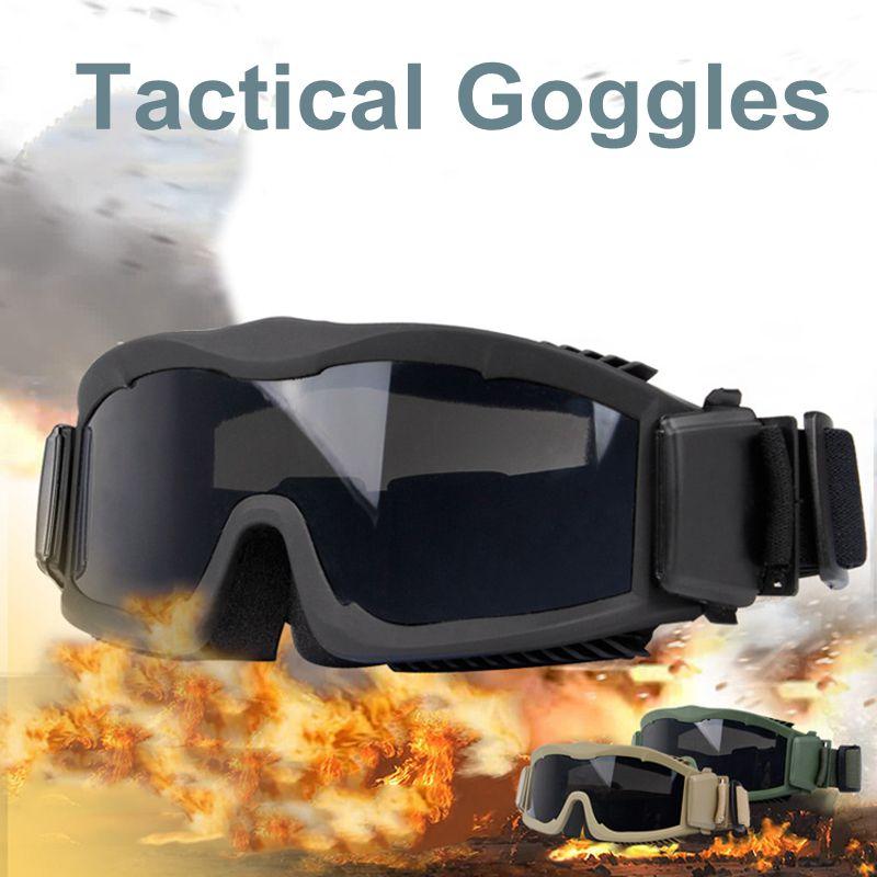ar livre óculos de tiro tático para homem