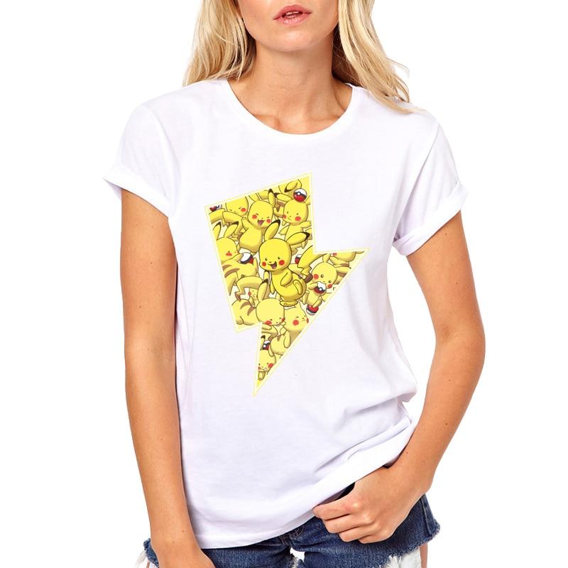 hot-sale-font-b-pokemon-b-font-go-pikachu-print-t-shirt-cute-casual-white-t-shirts-kawaii-funny-tops
