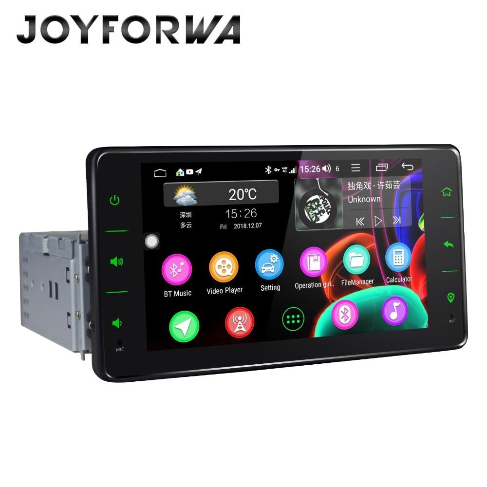 Universel 1 din Android 8.1 voiture stéréo GPS lecteur multimédia Wifi BT Radio 4 GB RAM 4G SIM réseau volant RDS sans DVD