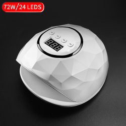 72W UV LED Lamp For Nail Dryer With Infrared Sensing 24pcs Lamp Beads LCD Display Nail Dryer Lamp Manicure Tool for All Gel Nail