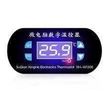 цены W1308 Adjustable Digital Cool Heat Sensor Blue Display Temperature Controller Thermostat Switch DC 12V