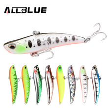 ALLBLUE 2018 Blade 70S Sinking Vibration Fishing Lure Hard Plastic Artificial VIB Winter Ice Fishing Pike Bait Tackle Isca Peche