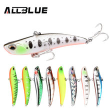 ALLBLUE 2018 Blade 70S Sinking Vibration Fishing Lure Hard Plastic Artificial VIB Winter Ice Fishing Pike Bait Tackle Isca Peche(China)