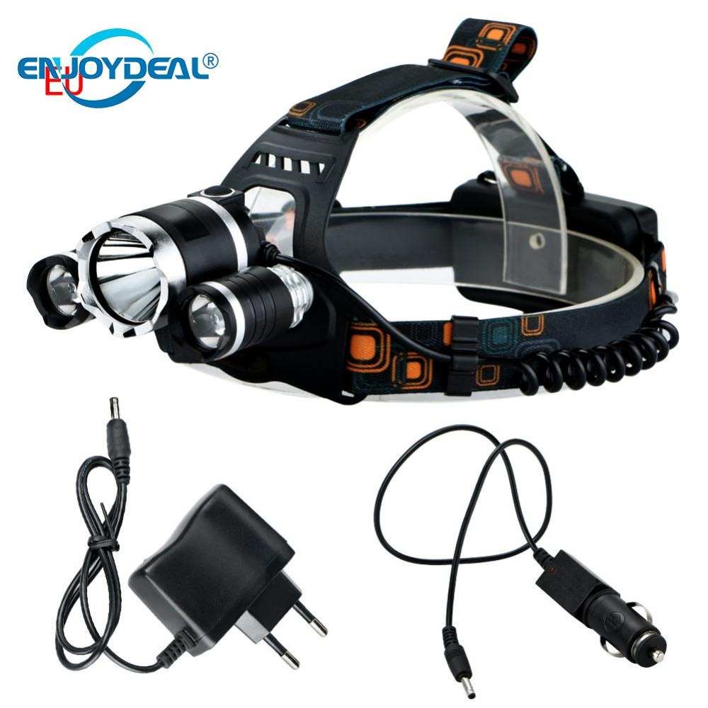 Led Spotlight Headlamp: 6000 Lumens LED Headlamp T6 2R5 LED 4 Modes Rechargeable