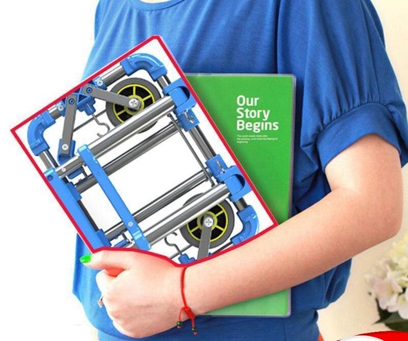 Макс. Нагрузка 30кг Складная тележка тележка тележка с телескопической ручке , резиновые Шины и закрытие 2х шнурок