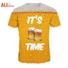 All-over-print beer pint men's t-shirt