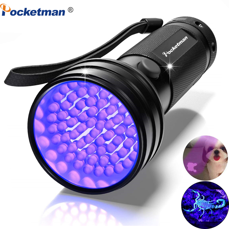 Waterproof Hand Held 51 Bulb LED Black Light Flashlight Find Minerals Scorpions