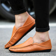 casual leather shoes men loafers men driving shoes designer shoes men high quality luxury brand chaussure homme erkek ayakkabi(China)