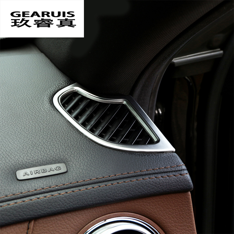 Car styling Stickers Dashboard Air Conditioning Outlet Cover Trim For <font><b>Mercedes</b></font> Benz <font><b>S</b></font> <font><b>Class</b></font> <font><b>W222</b></font> 2014-2017 Auto Accessories LHD image