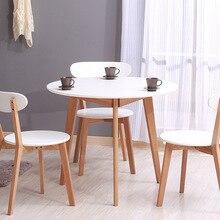 Обеденные столы, мебель для столовой, мебель для дома, журнальный столик из цельного дерева, минималистичный современный кухонный стол, 91,5*91,5*75 см