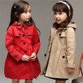 Envío libre 2016 niños del resorte de la capa del viento Cardigan chaquetas para las niñas niños Trend de las chaquetas de estilo joven niñas abrigo de invierno, YC042