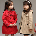 Free Shipping 2016 Spring Kids Wind Coat Cardigan Jackets for Girls Children Trend Style Jackets Young Girls Winter Coat, YC042