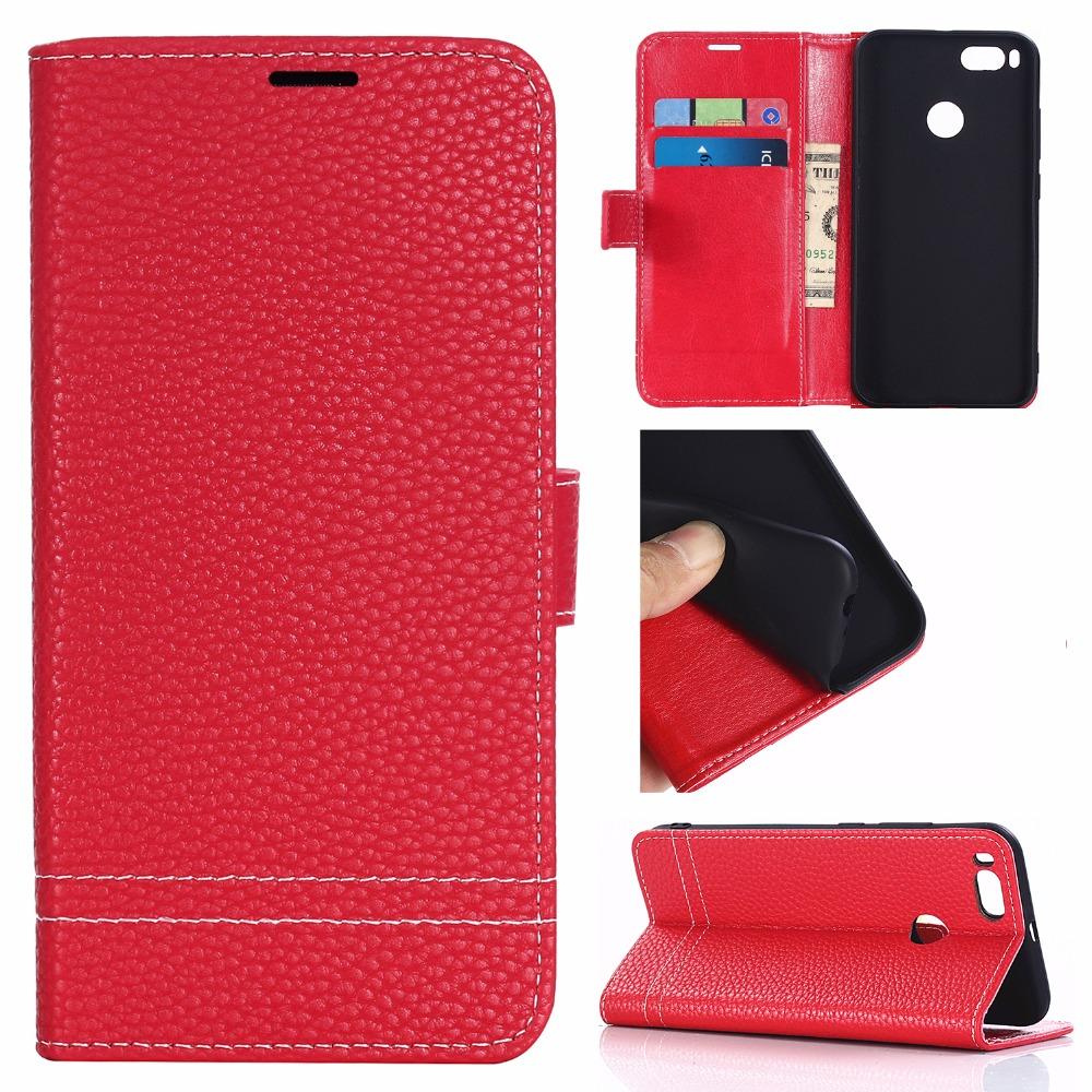 Case For Xiaomi 5X max2 mix2 Luxury Wallet PU Leather Case Stand Flip Card Hold Phone Cover Bags Redmi 5A 4x A1 Note 5 4 4x Plus