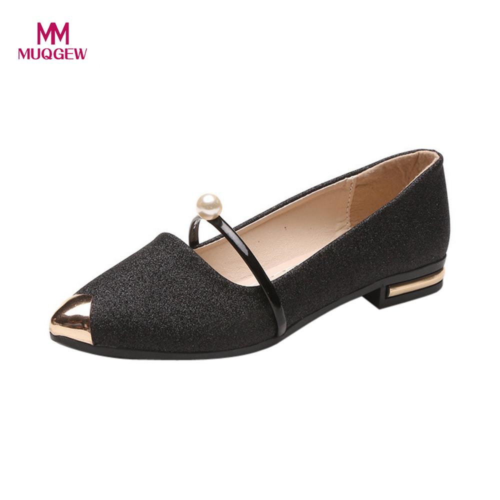 Women Flat Shoes Fashion Square Heel Pointed Toe Ladise Shoes Casual Low Heel Flat Shoes Female Spring Outdoor Casual Flats cresfimix women cute spring summer slip on flat shoes with pearl female casual street flats lady fashion pointed toe shoes