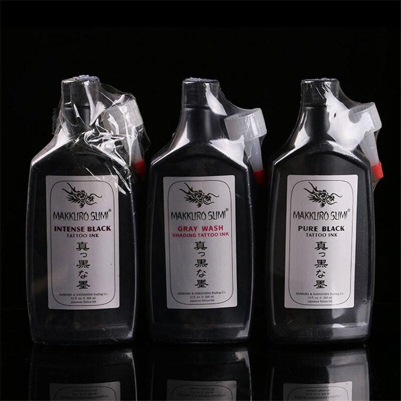 Encre de tatouage Noir Pigmention Encre pour Tatouage Machine Kits graywash noir intense noir pur noir 360 ml/bouteille