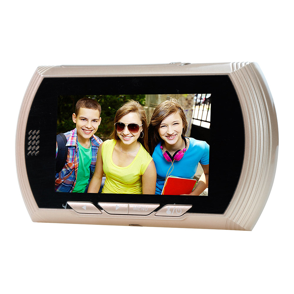 YB-43AHD-M 4.3HD Color Screen Smart Doorbell Viewer Digital Door Peephole Viewer Camera Door Eye Video record IR Night vision h 264 1080p door eye hd ahd peephole