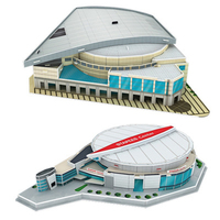 3D three dimensional Puzzl World basketball court Stadium children's Puzzle DIY spell insert Learning Educational Games Toys