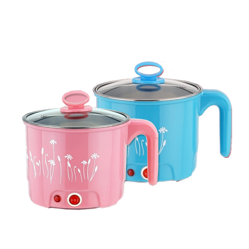 Многофункциональный Электрический сковородке Нержавеющаясталь Hot pot рисовой лапшой Плита пару яйцо суп мини Отопление Пан 1.5L ЕС и США