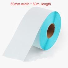 2 unids Continua Rollo 50mm x 50 m Continua Rollo Autoadhesiva para impresora TÉRMICA DIRECTA